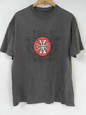 Men's WEST COAST CHOPPERS Gray T-Shirt LONG BEACH CA Large Motorcycle Snake Iron