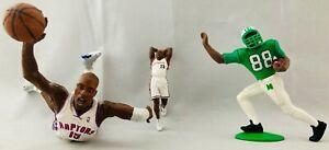 "Lot of LeBron James 3"" Cavaliers Vince Carter Raptors McFarlane Randy Moss SLU"
