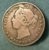 1894 Newfoundland Canada Silver 10 Cents KM# 3 Canadian Coin #4386