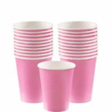8 Rosa Claro Vasos de Papel 256 Ml 266 Ml Fiesta Cumpleaños Baby Shower Color