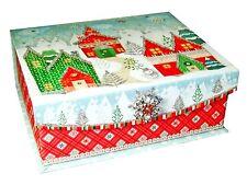 Punch Studio Rectangle Jewel Flip Top Nesting Box Winterland 46419 Christmas
