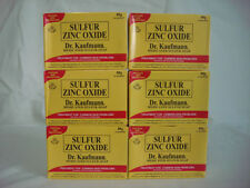 DR. KAUFMANN MEDICATED SULFUR ZINC OXIDE SOAP - 6 Boxes of 80g