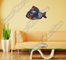 "Tropical Neon Fish Colorful Abstract Wall Sticker Room Interior Decor 25""X20"""