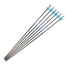 """12PCS 32"""" SP340 Archery Carbon Arrows Shaft Vane Nock Point Compound Bow Hunting"""