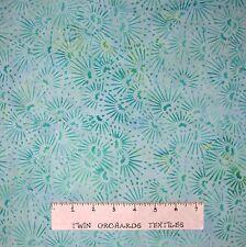 Bali Batik Fabric - Mint Green Flower Toss - Princess Mirah Quilt Cotton YARD