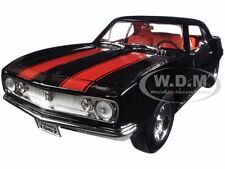 1967 CHEVROLET CAMARO Z/28 BLACK W/ RED 1/18 DIECAST MODEL ROAD SIGNATURE 92188