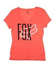 Fox Racing Women's Top Weave Vneck Orange Flame Size S