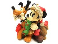 Disney All decked out In Holiday Cheer #363308 Figurine Mickey and Pluto Enesco
