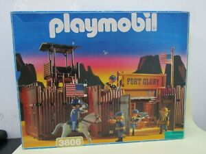 Vintage Playmobil Fort Glory Western Stockade Headquarter 3806 FOR PARTS