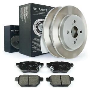 Brake Discs Full 259mm + Brake Pads Rear Toyota Iq J1 Yaris P9
