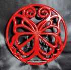 Used Pioneer Woman Timeless Beauty Red Enameled Cast Iron Butterfly Trivet