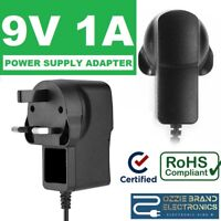 "To Fit Alba APVS8372B/APVS8372P 7"" Portable DVD Player Power Adapter Charger 9V"