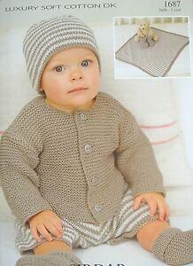 SIRDAR 1687 - BABIES/CHILDS JACKET, PANTS, BLANKET, HAT & BOOTS KNITTING PATTERN