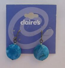 x Turquoise marbled EARRINGS Claire's Jewelry