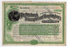 James Roosevelt Roosevelt - Pittsburgh McKeesport & Youghiogheny Rr Bond