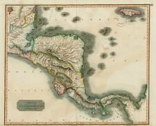 """Spanish North America, southern part"" by John Thomson. Central America 1817 map"
