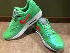 Air Max 1 - POLARIZED BLUE/TOTAL CRIMSON-NEOLIME - Size 10.5 - Deadstock