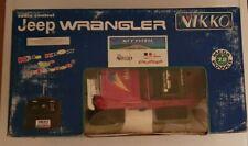NIKKO 1/16 RC JEEP WRANGLER never used at original box 90s stock