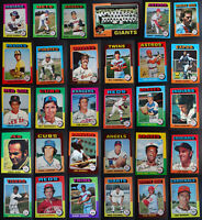 1975 Topps Baseball Cards Complete Your Set U You Pick From List 221-440