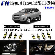 8 Lights Xenon White LED Interior Light Kit For Hyundai Tucson / ix35 2010-2014