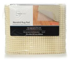 Mainstays Nonskid Cushioned Rug Pad In White Cream. 5x8ft.