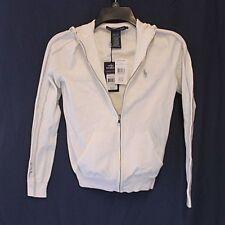 Ralph Lauren 0157771 ZHC US OPEN RL Tennis Hooded Sweater Cream Size S $225