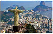 Quadro moderno RIO DE JANEIRO 60x100 brasile cristo redentore copacabana città