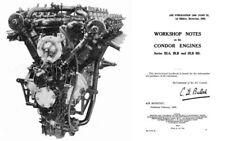 Rolls-Royce Condor Aero Engine Manual V-12 1920's period Eagle Derby England