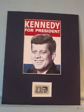 John F. Kennedy Runs for President in 1960 honored by his own stamp