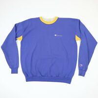 Vtg 90s Champion Heavyweight T-Shirt XL Purple Yellow Lakers Colors USA Made XL