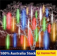 Meteor Shower Rain Drop LED String Lights Outdoor Xmas Waterproof Falling Star