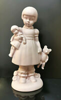 9942965-ds Wagner&Apel Porcelana Figura Chica Con Teddy Blanco Bisquit H18cm
