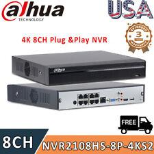 Dahua Original 4K 8MP 8CH NVR2108HS-8P-4KS2 H.265 Network Video Recorder Home