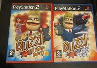 Playstation 2 Buzz Quiz games bundle Of 2 - Big Quiz - Music Quiz