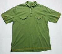 Orvis Short Sleeve Polo Shirt Mens SIZE L Green