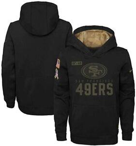 San Francisco 49ers Nike Youth Boys 2020 Salute to Service Hoody Sweatshirt