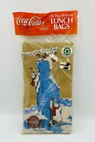 Coca-Cola Lunch Bags / Sacks Classic Coke Bottle Design Vintage 1997 NEW Sealed
