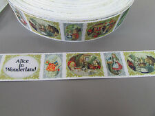Alice in Wonderland Grosgrain Ribbon 2.5cm X 1 Metre   Sewing/Crafts/Cake