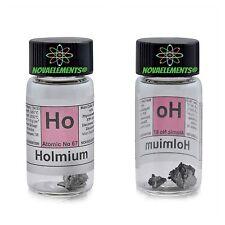 Olmio metallo elemento 67 Ho puro 99,95% 1 grammo in vial + etichetta colorata