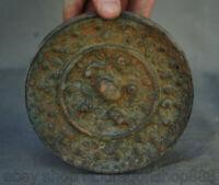 """4,8 """"miroirs de conception bête palais de la dynastie en bronze chinois anciens"""