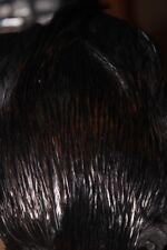 Dyed Black Cockerel Neck Cape