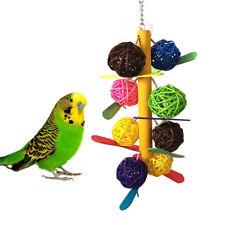 KE_ BH_ KF_ Colorful Cane Ball Chew Toy Bird Parrot Parakeet Cockatiel Cage De