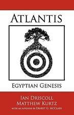 Atlantis: Egyptian Genesis by Matthew Kurtz and Ian Driscoll (2010, Paperback)