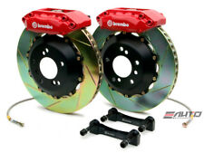 Brembo FRONT GT Brake BBK 4 Piston Red 328x28 Slot Integra 90-01 4x100 DA DC