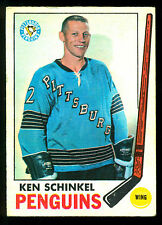 1969 70 OPC O PEE CHEE #117 KEN SCHINKEL  EX+ PITTSBURGH PENGUINS HOCKEY CARD