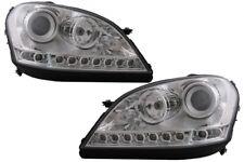 Headlights LED DRL for Mercedes M-Class W164 2005-2008 RHD Chrome