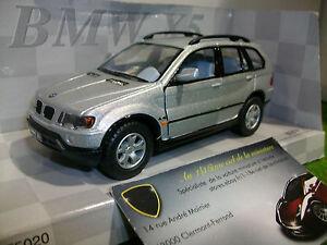 BMW X5 gris argent sil à l'échelle 1/32 fabricant KINSMART voiture miniature 4x4