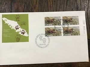 Stamps Canada FDC - 1981 - Vancouver Island Marmot, Scott # 883 Plate Block