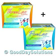 (1) THREELAC & (1) FIVELAC | kill candida yeast candidiasis probiotics detox GHT