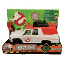 Ghostbusters ECTO-1 Vehicle and Slimer Figure 2016 Lights Up -glow In The Dark